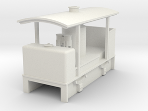 OO9 cheap and easy vertical boiler loco with roof in White Strong & Flexible