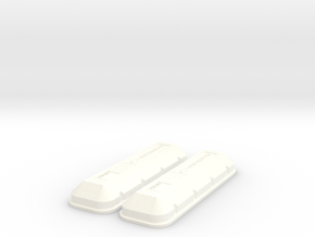 1/8 BBC 502 Logo Valve Covers in White Strong & Flexible Polished