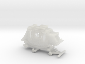 Z Scale Stagecoach - No Wheels in Frosted Ultra Detail