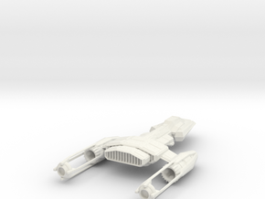 1/144 Puffin Heavy Deep Space Fighter in White Strong & Flexible
