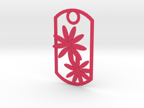 Daisy dog tag in Pink Strong & Flexible Polished