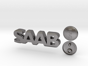 Saab Keychain Lanyard in Polished Nickel Steel