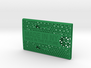 Business card case -Made in NY, Made in the Future in Green Strong & Flexible Polished