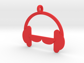 Headphones charm in Red Strong & Flexible Polished