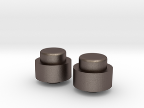 Adjustment Buttons - Metal in Stainless Steel