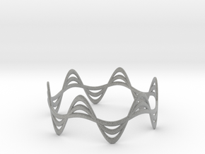 Triple Wave Bracelet (67mm) in Metallic Plastic