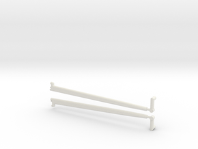 1/8 scale front Radius rod in White Strong & Flexible