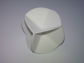 DRAW geo - sphere 06 cut outs in White Strong & Flexible