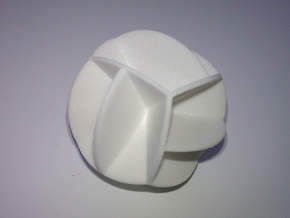DRAW geo - sphere 12 cut outs in White Strong & Flexible