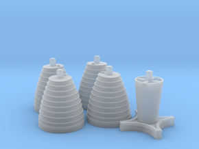 H-1 Engines Early Version (1:70 Inboards ONLY) in Frosted Ultra Detail