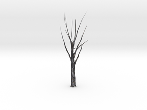 Tree Faceted - Clean in Polished Grey Steel