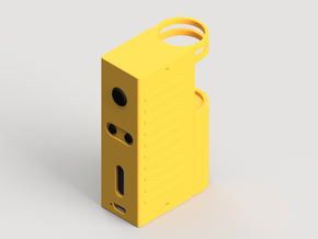 Design 4 - 18650 - Gripper Body in Yellow Strong & Flexible Polished