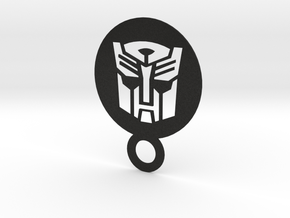 Autobot Logo or upside down darth wader in Black Acrylic