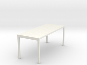 4 Leg Table in White Strong & Flexible