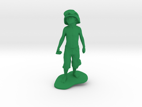 Schoony - Boy Soldier (15cm Tall) in Green Strong & Flexible Polished