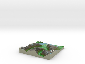 Terrafab generated model Thu Aug 07 2014 11:21:37  in Full Color Sandstone