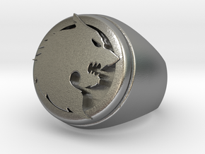 Wolf Ring Size 10 in Raw Silver
