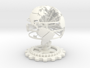 Steampunk World Small 6x6x7 in White Strong & Flexible Polished