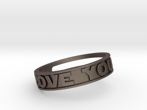 """I Love You""&""I know"" ring (med.sizes 16mm to 22m) in Stainless Steel"
