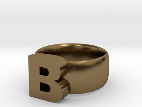 B Ring in Polished Bronze
