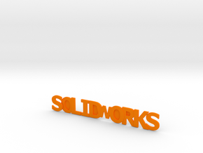 Solidworks in Orange Strong & Flexible Polished