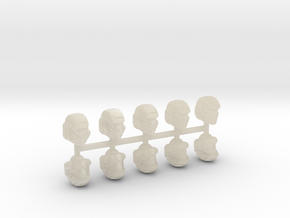 28mm scale shock trooper Heads X10 in White Acrylic