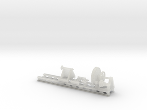 Wheel Lathe standard gauge HO Scale in Frosted Ultra Detail