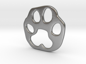 Bobcat paw print in Raw Silver