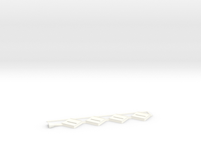 Base x 4 20mm straight in White Strong & Flexible Polished