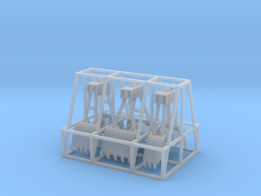 Clamshell Buckets N or HO Scale in Frosted Ultra Detail