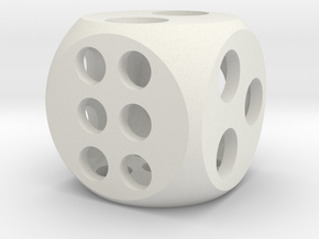 "0.5"" Balanced D6 in White Strong & Flexible"