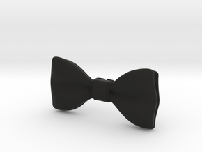 3D Printed Bow Tie in Black Strong & Flexible