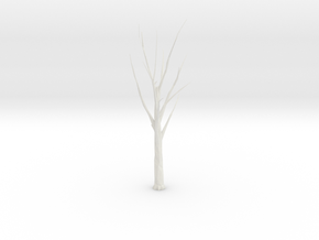Tree Faceted - Trimmed Ends in White Strong & Flexible