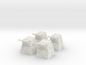 4x Turbolaser Turret in White Strong & Flexible