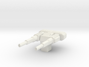 Particle Beam Accelerator Turret in White Strong & Flexible
