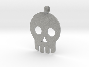 Skull necklace charm in Metallic Plastic