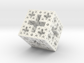 Jcube3- version 2 in White Strong & Flexible Polished