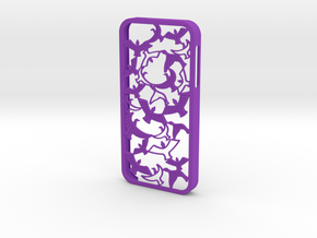 Birds Silhouette iPhone5/5s Case in Purple Strong & Flexible Polished