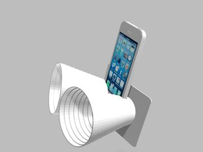 iPhone5 Stereo Acousticup Collapsible Amplifier in White Strong & Flexible