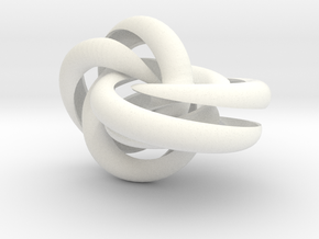Hollow Knotted Gear in White Strong & Flexible Polished