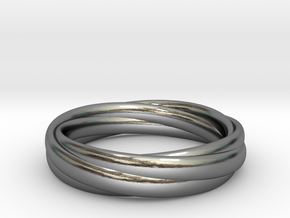 Ring  - Wound in Polished Silver
