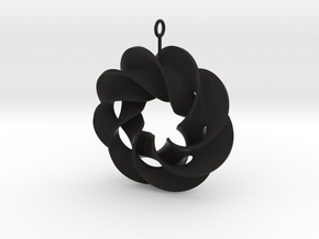roter plow earring 1 in Black Strong & Flexible