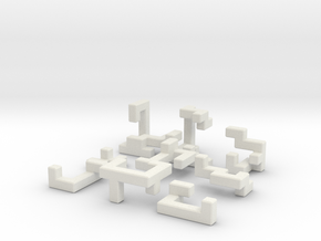Switch Cube (3.5cm) in White Strong & Flexible