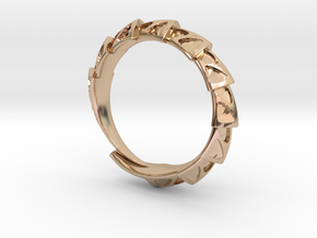 Carapace Ring in 14k Rose Gold