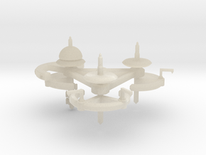 5 Repair and Resupply Space Station in White Acrylic