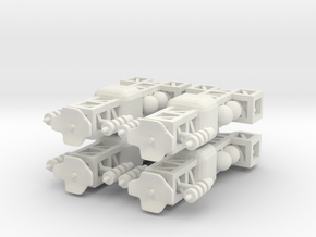 8 Small Spaceship x4 in White Strong & Flexible