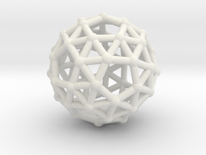 Snub dodecahedron in White Strong & Flexible