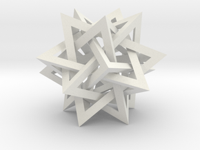 Intersecting Tetrahedra - Small in White Strong & Flexible