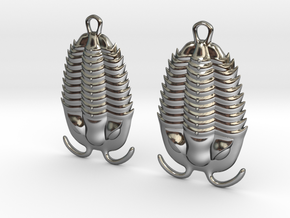Trilobites Earrings in Premium Silver