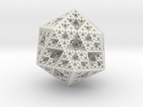Sierpinski Icosahedron in White Strong & Flexible